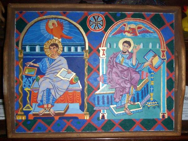 Saxon Gospel Serving Tray by Kittybriton