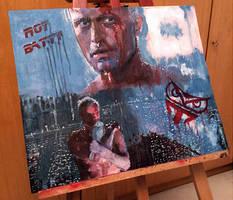 Tears in Rain: Blade Runner Oil Painting