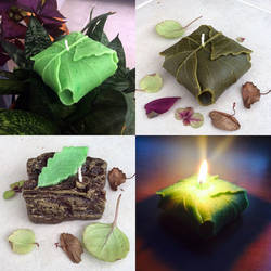 Homemade Lembas + Leaf/Wood/Stone Candles