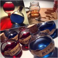 Mana / Health Potion Decor Bottles by Faunwand