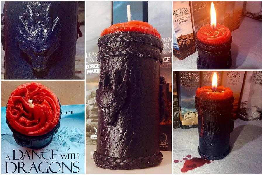 Game of Thrones Targaryen Candle by AsliBayrak