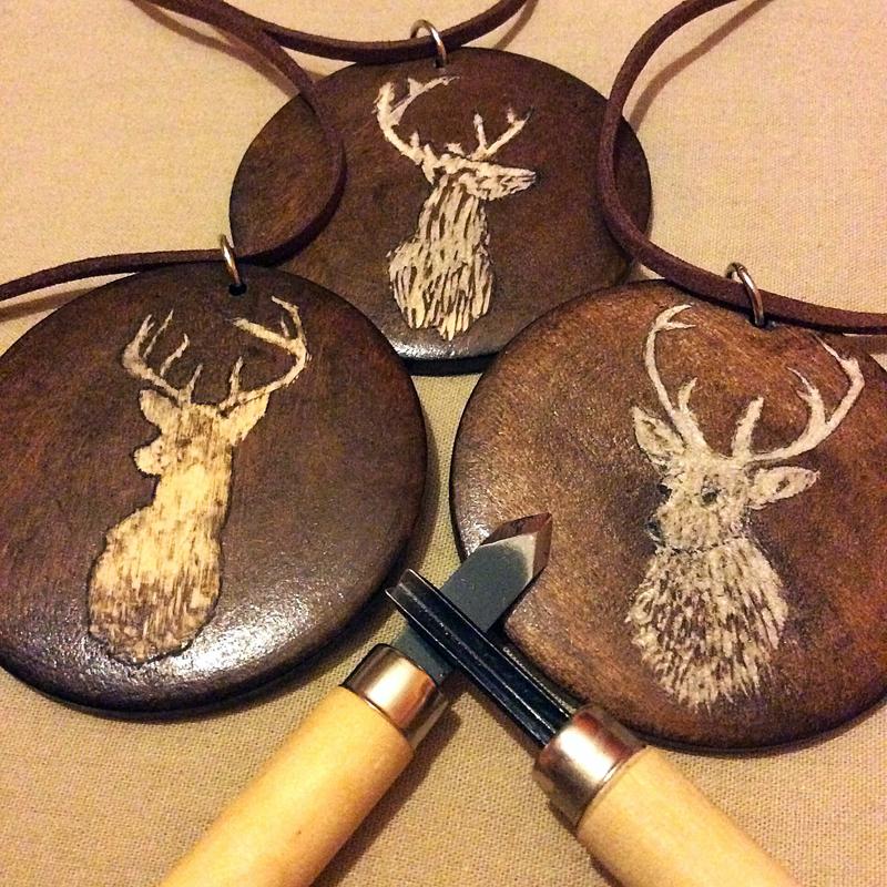 Wooden Saga Pendants by AsliBayrak