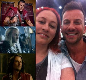 Craig Parker and me by Faunwand