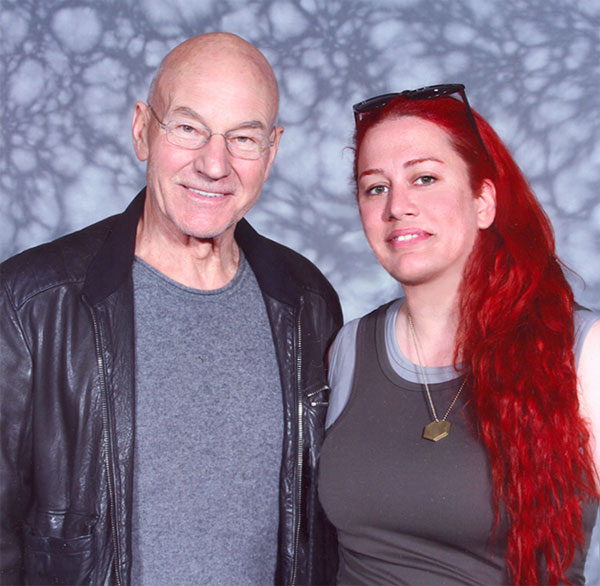 Patrick Stewart and me by AsliBayrak