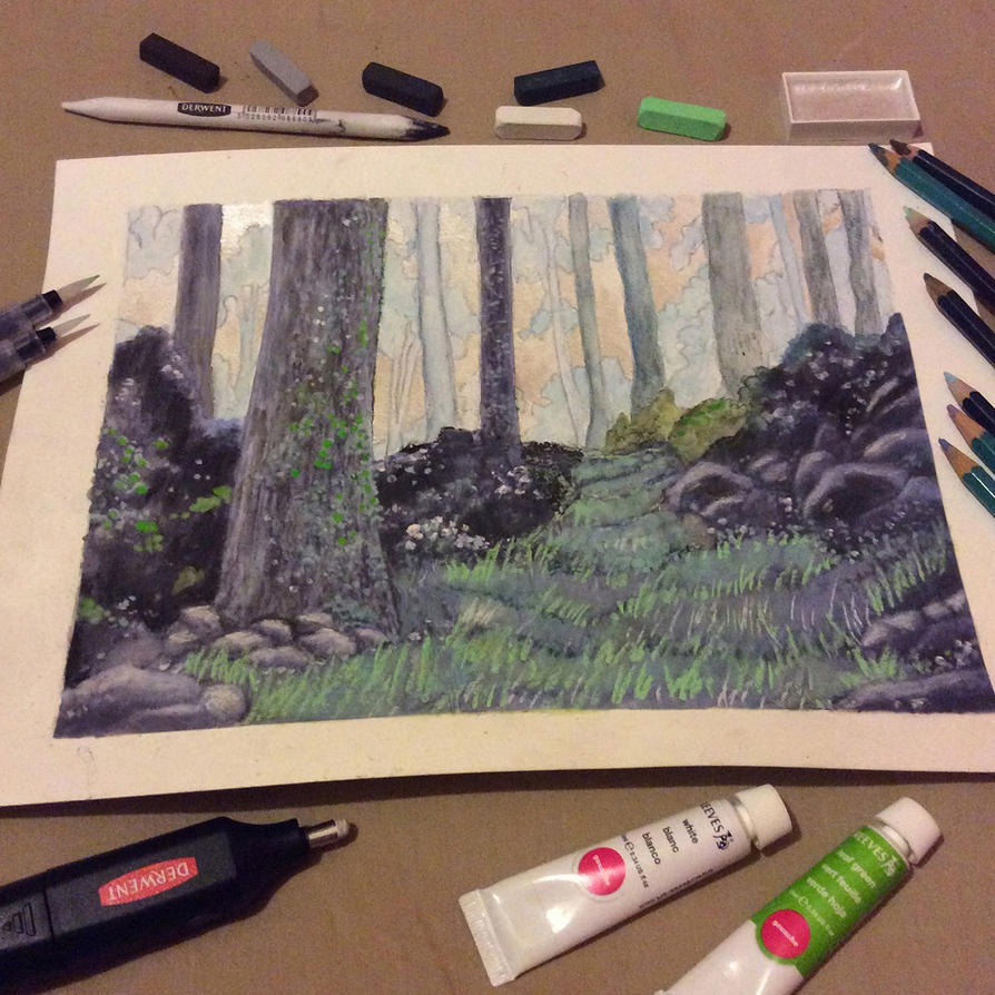 Woodland Study by AsliBayrak