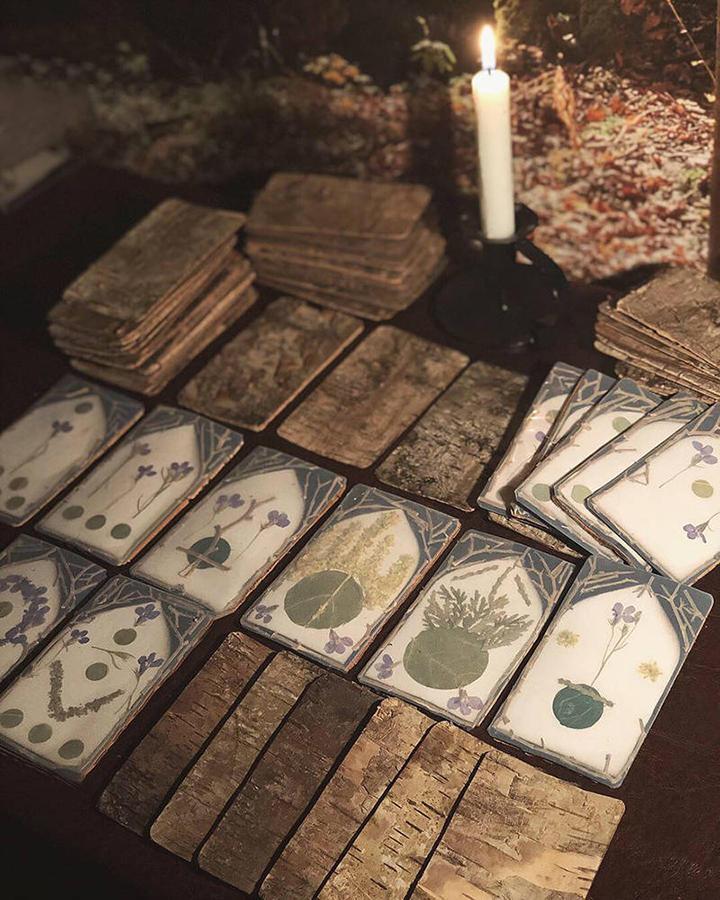 Faunwand's Wildcraft Tarot Deck: Suit of Pentacles