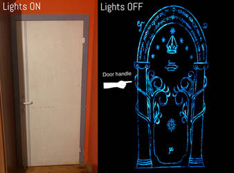The Doors of Durin (Luminous painting) by Faunwand