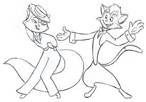 DailyDoodle: Cats Don't Dance by justira