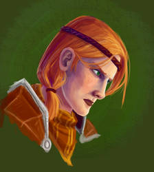 Dragon Age: Aveline Portrait by justira