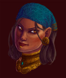 Dragon Age: Isabela Portrait by justira