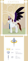 Supernatural My Little Ponies: Castiel by justira