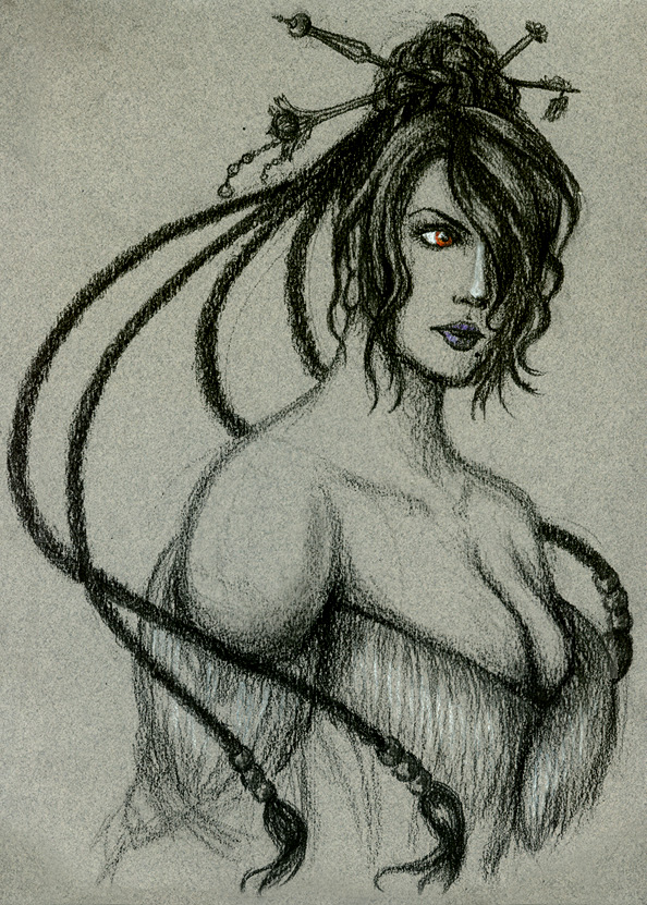 FFX: Lulu in Charcoal Gift Art by justira