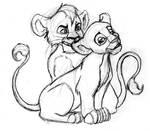 Lion King: Kovu+Kiara Doodle
