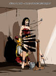 Slave Wonder Woman on the wooden horse