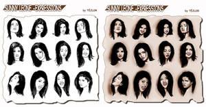 Sunny Leone's faces