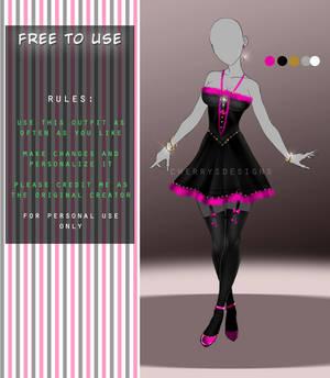 FREE TO USE OUTFIT - Kawaii dress