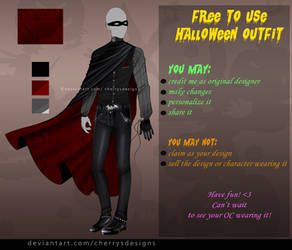 FREE TO USE - MALE HALLOWEEN OUTFIT