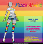 (FREE TO USE OUTFIT) Pride Month by CherrysDesigns