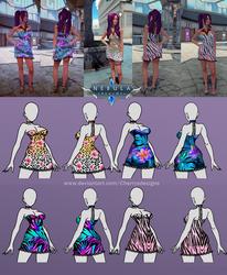 Nebula Realms - Summer update - dresses 1 by CherrysDesigns