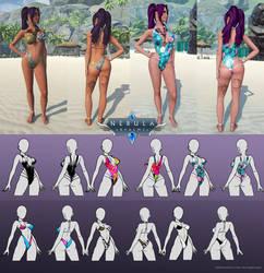 Nebula Realms - Summer update - Swimwear by CherrysDesigns