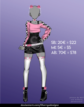 [CLOSED] 24H AUCTION - Outfit Adopt 1107