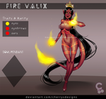 [CLOSED] 24H AUCTION - Fire Valix 236 by CherrysDesigns