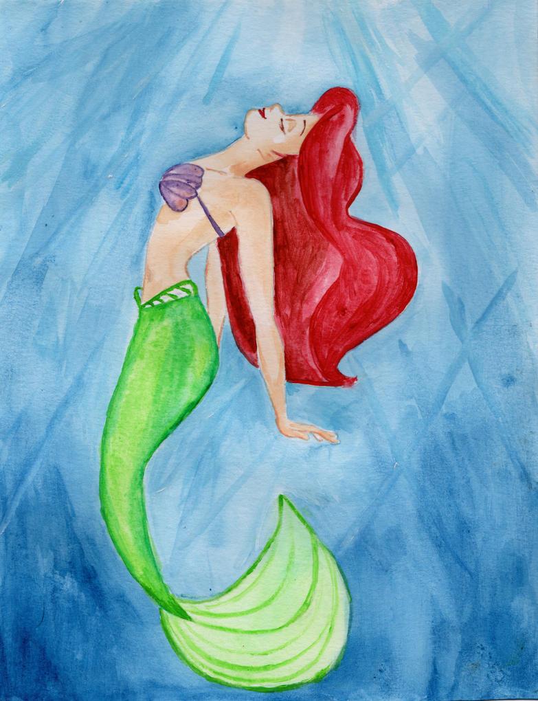 The Little Mermaid- Ariel Watercolor by julesrizz on ...