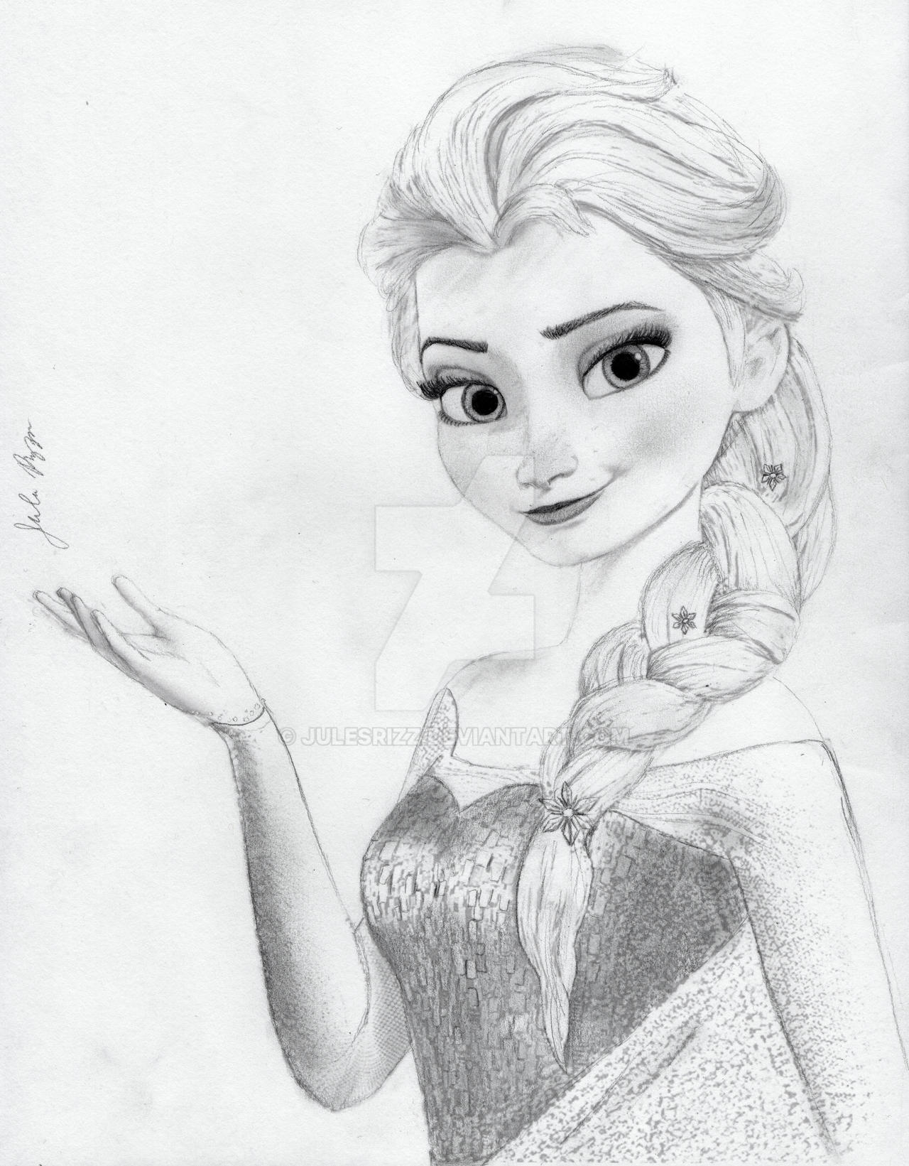 Elsa From Disney S Frozen By Julesrizz On Deviantart Princess Elsa Drawing
