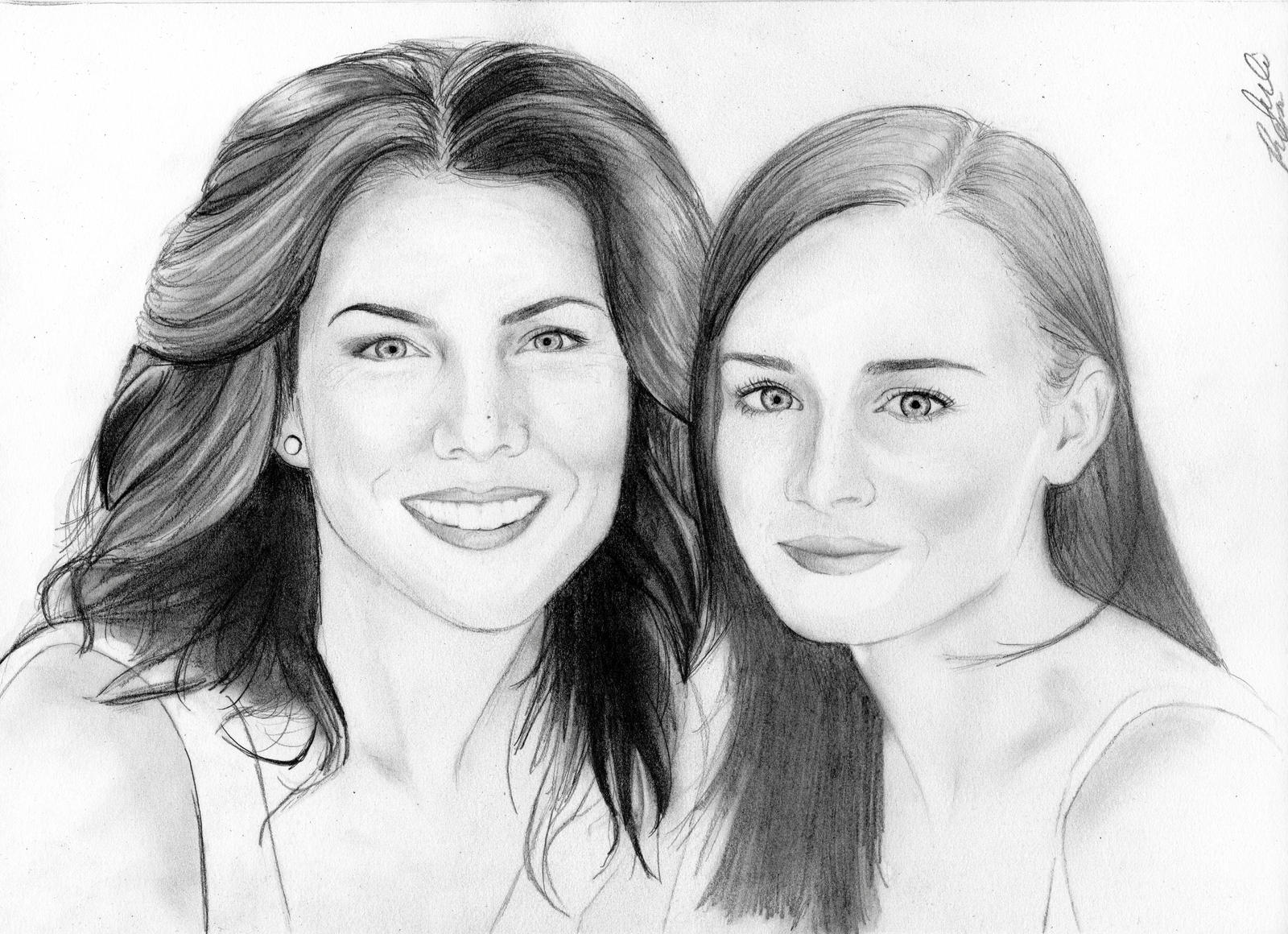 Gilmore Girls (pencil sketch) by julesrizz