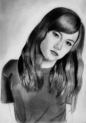 Natasha Negovanlis as Carmilla (Graphite sketch) by julesrizz