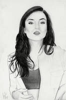 Natasha Negovanlis (Graphite Drawing) by julesrizz