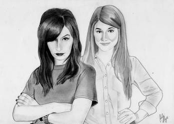 Carmilla and Laura (Graphite Drawing) by julesrizz