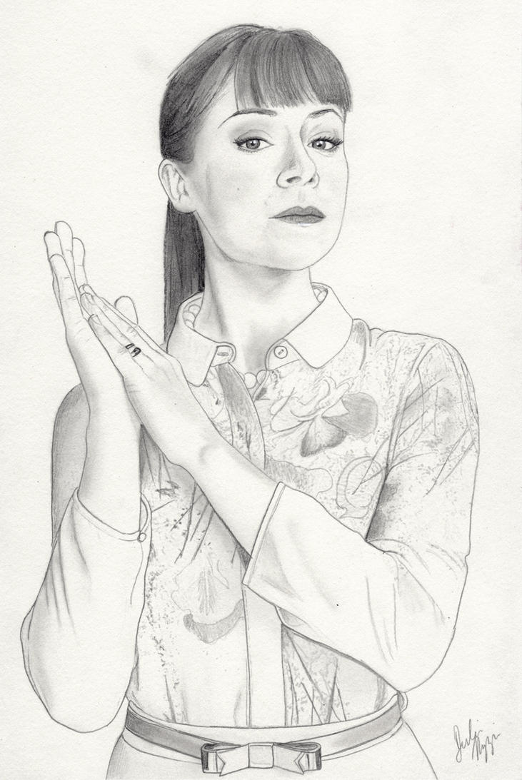 Alison Hendrix Orphan Black Graphite Drawing By