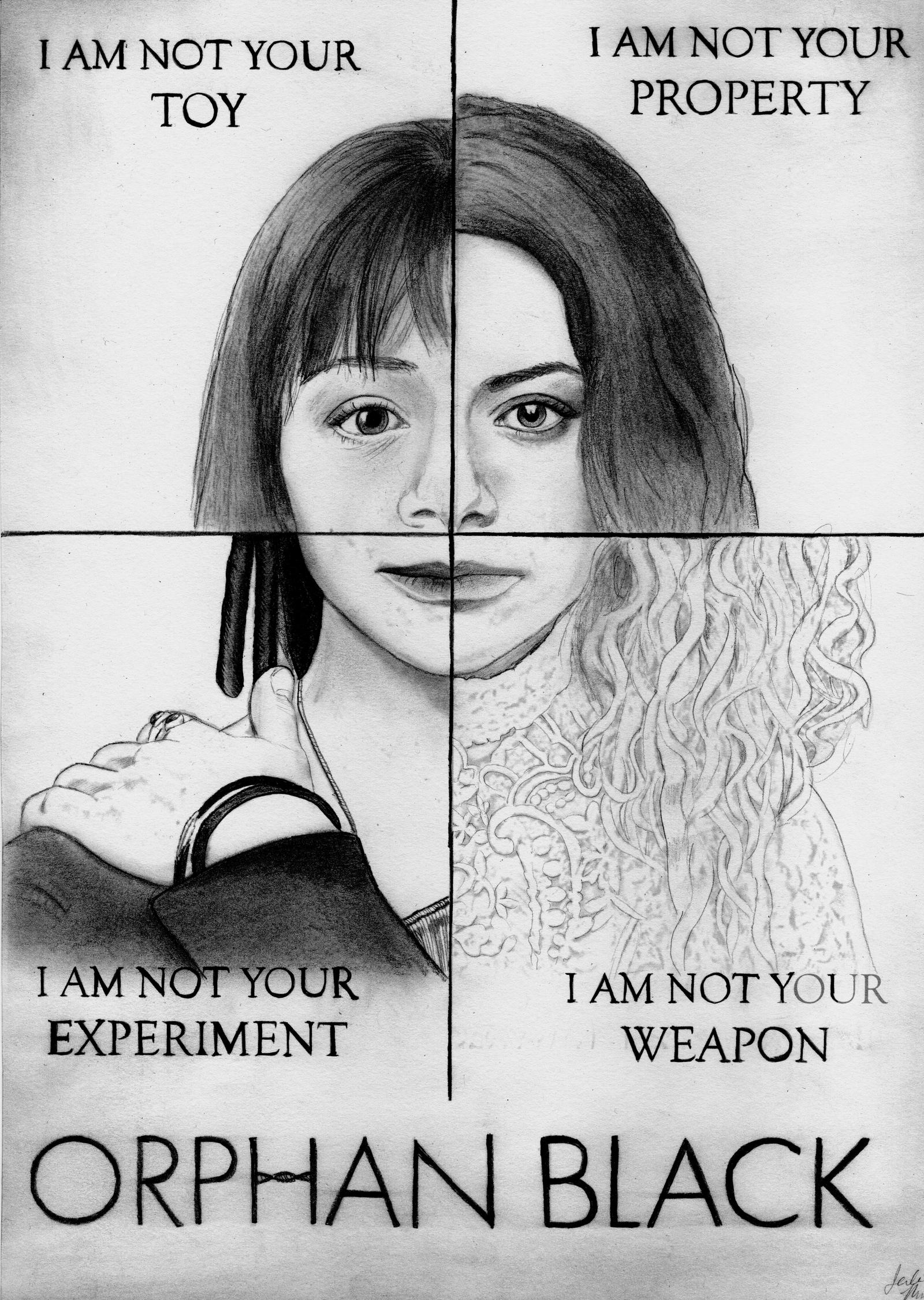 i am not your property orphan black drawing by julesrizz