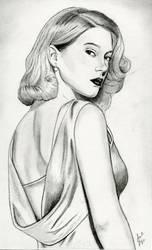 Lea Seydoux (Graphite Drawing) by julesrizz
