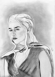 Daenerys Targaryen (Game of Thrones Drawing) by julesrizz