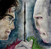 It All Ends (Harry Potter Watercolor)