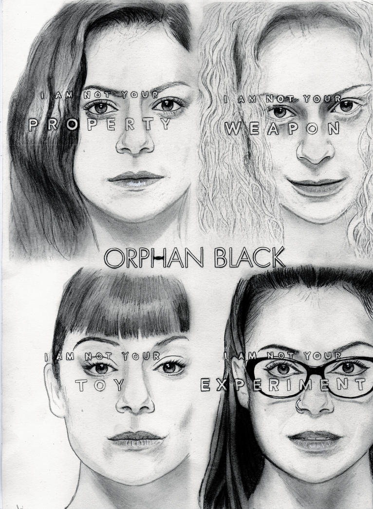 Who am I? (Orphan Black Drawing) by julesrizz