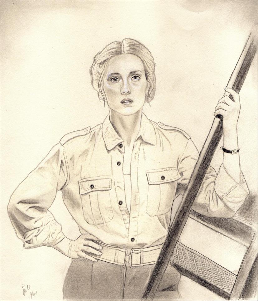 Agent Aurora Luft (X Company Drawing) by julesrizz