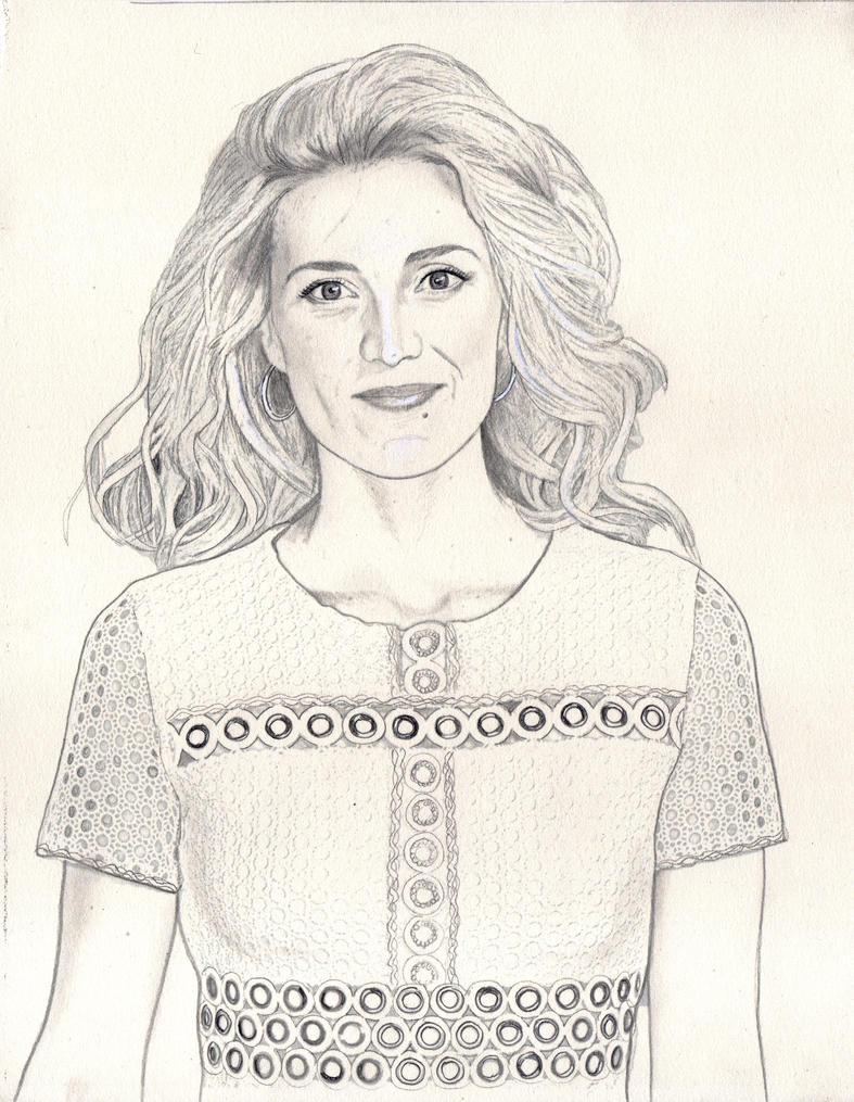 Evelyne Brochu (Graphite Drawing) by julesrizz
