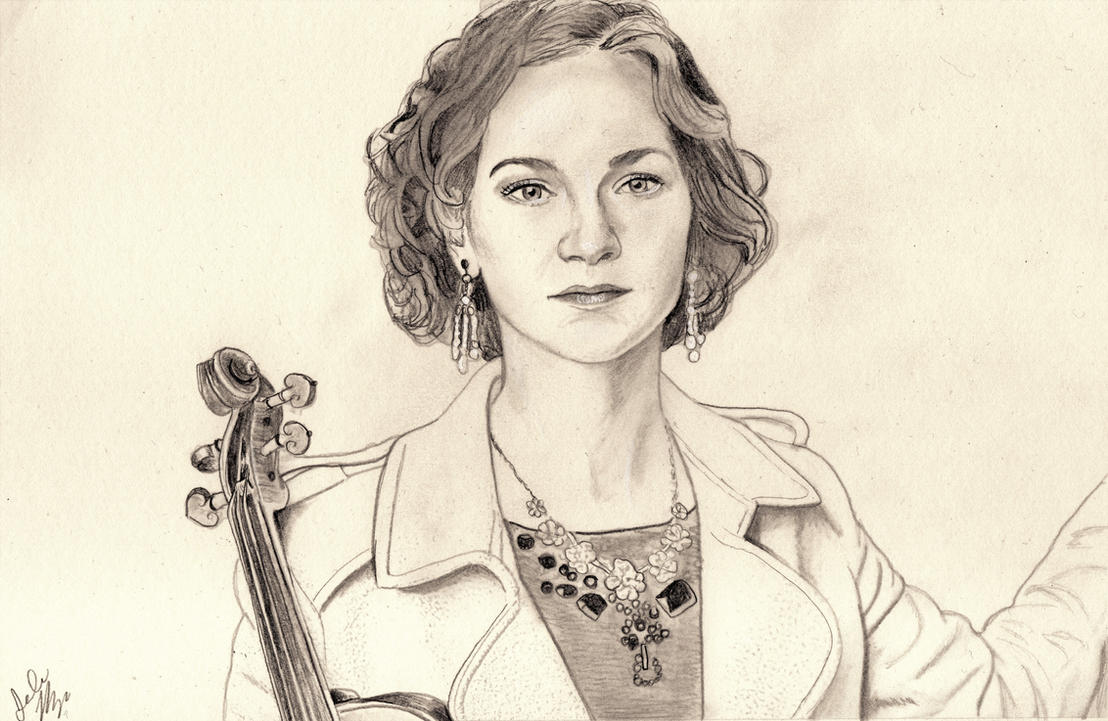 Hilary Hahn (Graphite Drawing) by julesrizz