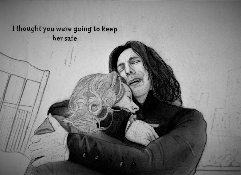 Snape and Lily (Graphite Drawing) by julesrizz
