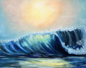 Ocean Waves (Small Oil Painting)