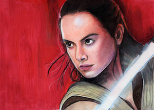 Daisy Ridley as Rey (Star Wars Colored Pencil)