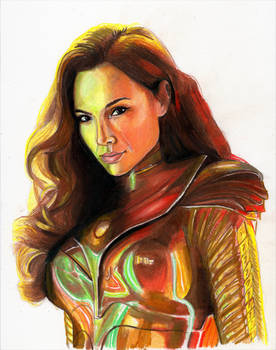 Wonder Woman 1984 (Colored Pencil)