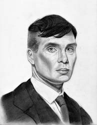 Cillian Murphy as Tommy Shelby (Graphite Pencil)