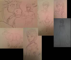 Frozen doodles by Wind21