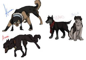 Korra Dogs by Wind21