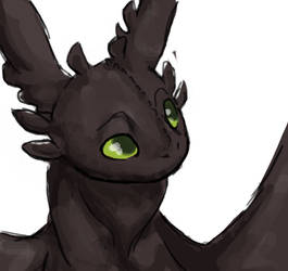 Toothless Doodle by Wind21