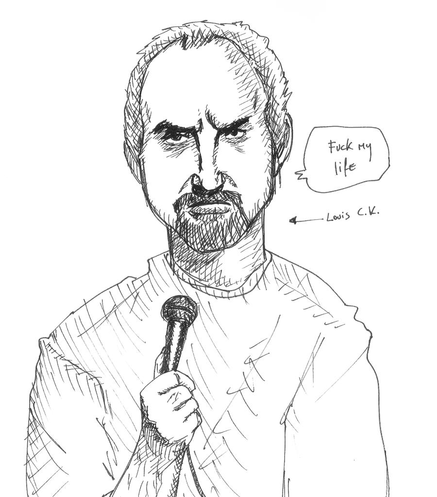 louis c k by hanzsolo on deviantart